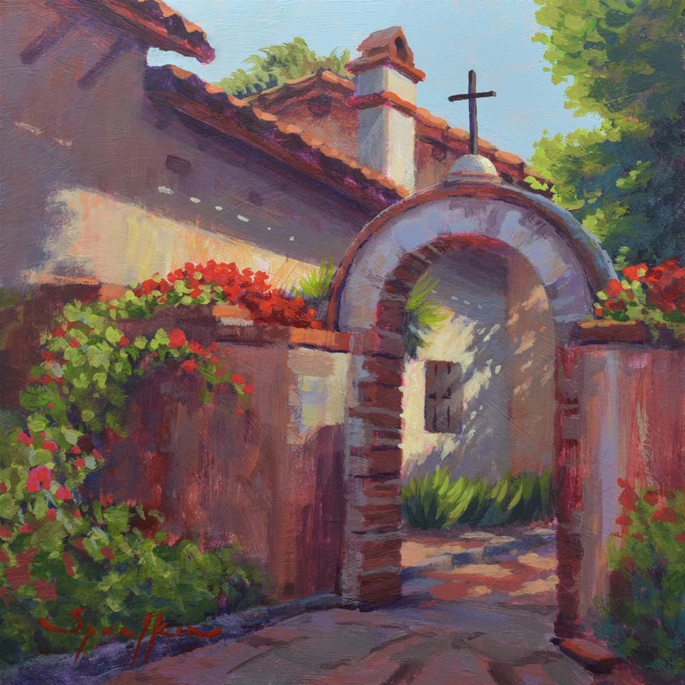 """Mission Archway"" original fine art by Edward Sprafkin"