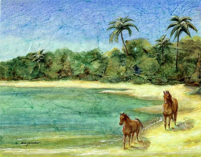 """""""Beach Run"""" original fine art by Sue Furrow"""