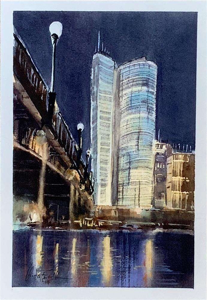"""Uniqa Tower, Vienna"" original fine art by Christa Friedl"