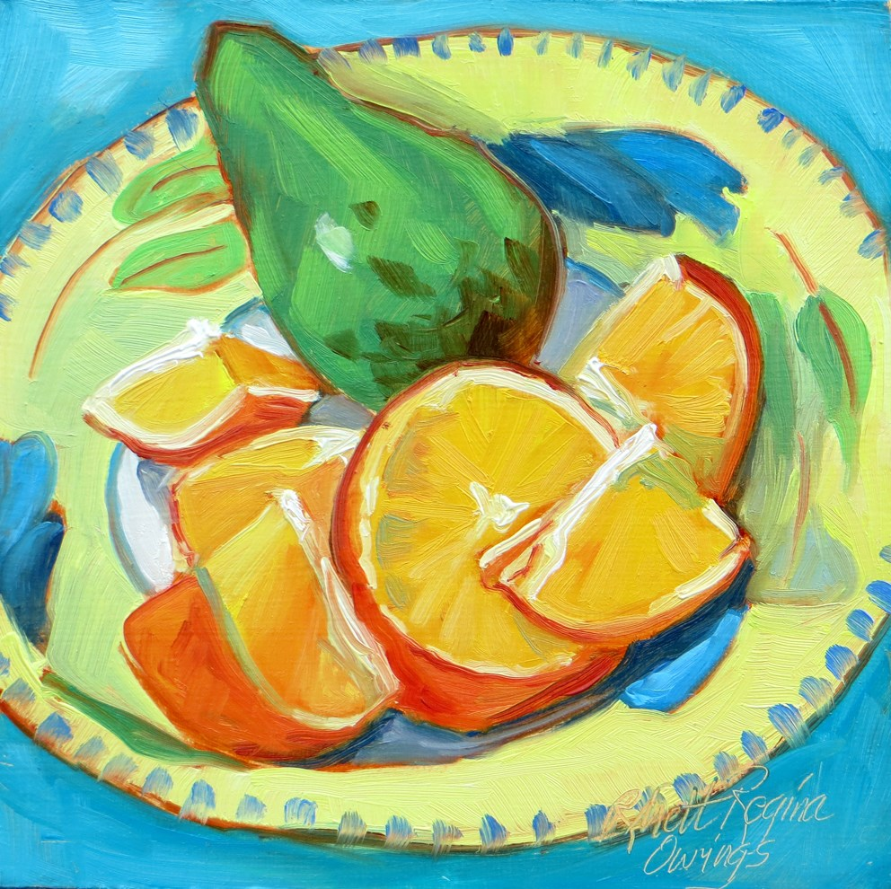 """Avocado Intruder"" original fine art by Rhett Regina Owings"