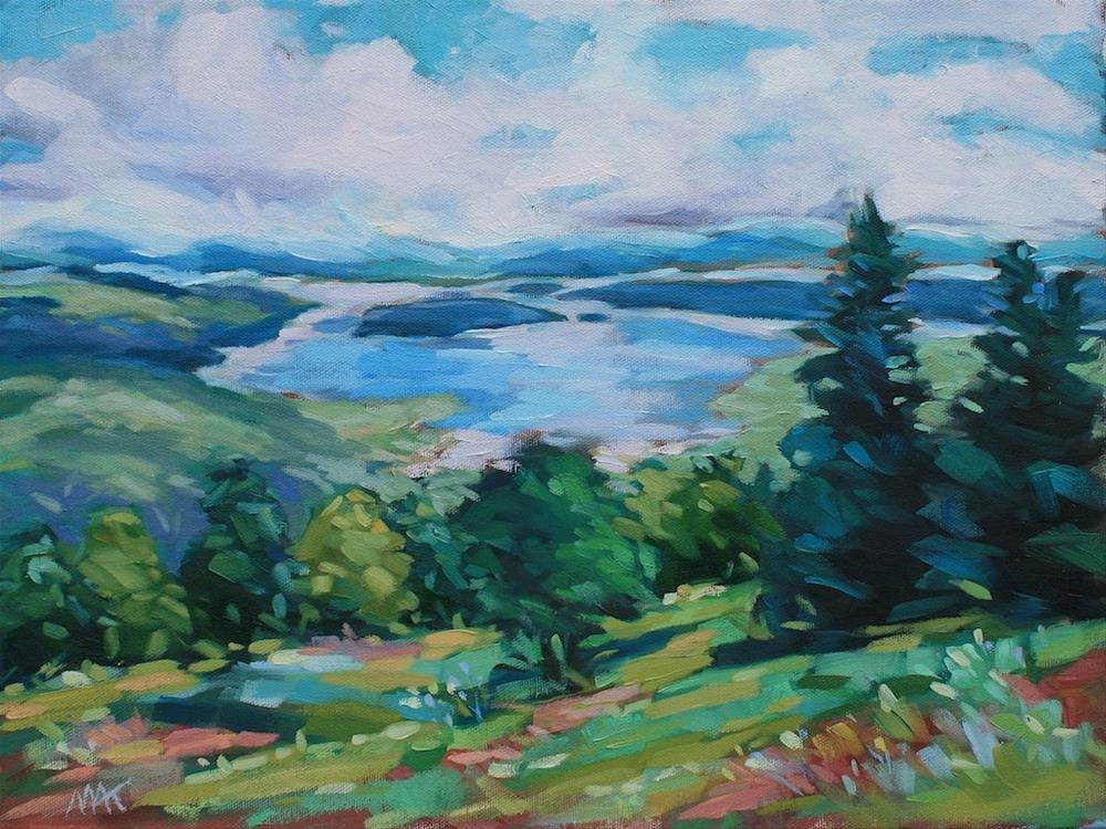 """Rangely Lookout"" original fine art by Mary Anne Cary"