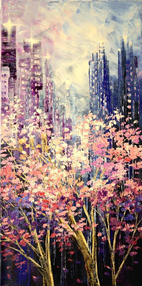 """Beyond Blossoms"" original fine art by Tatiana Iliina"