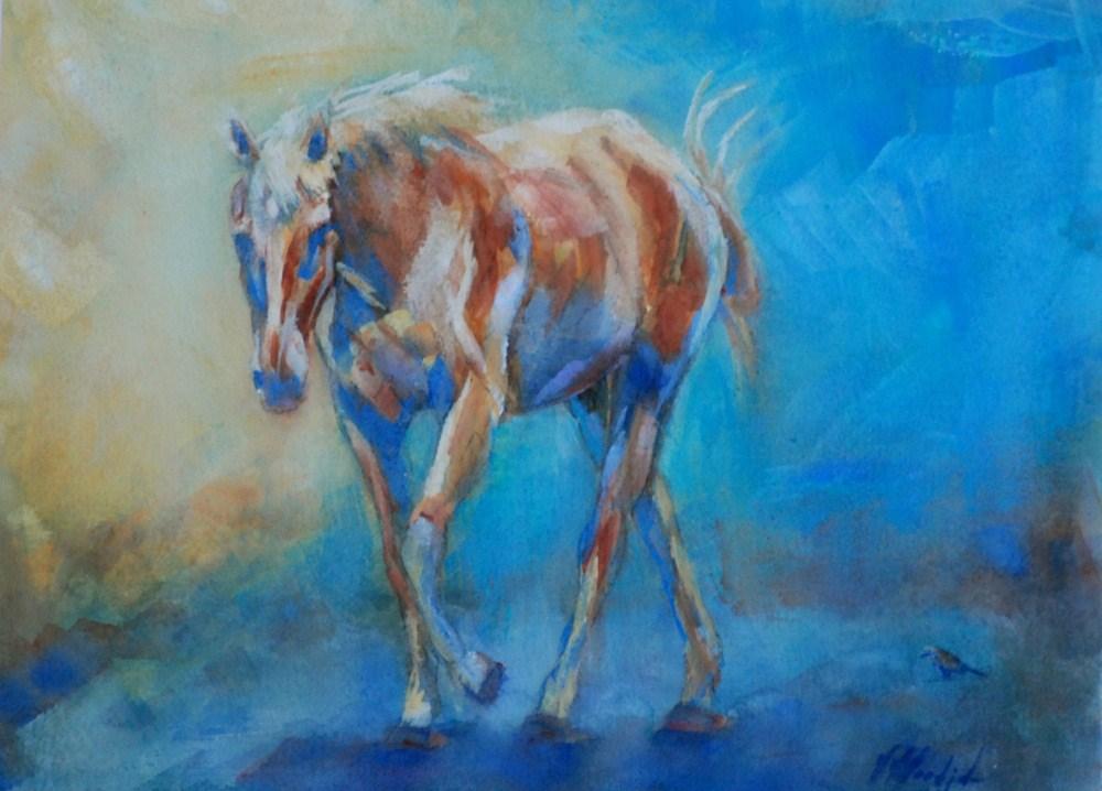 """my little friend"" original fine art by Vicki Wood"