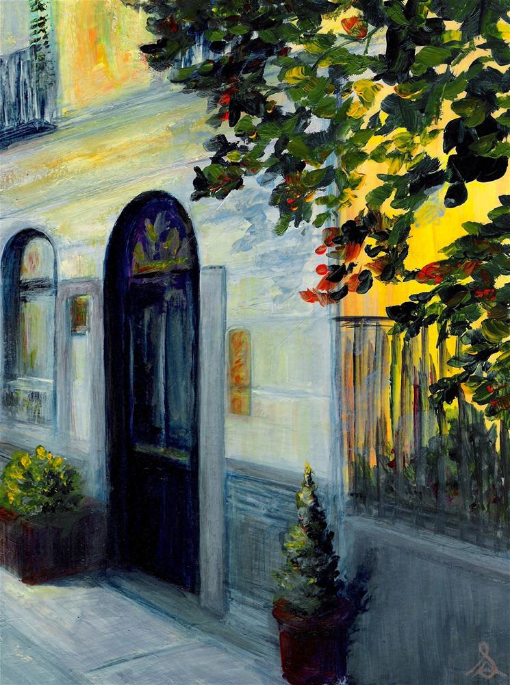 """3189 - Town Home - Windpower Series"" original fine art by Sea Dean"