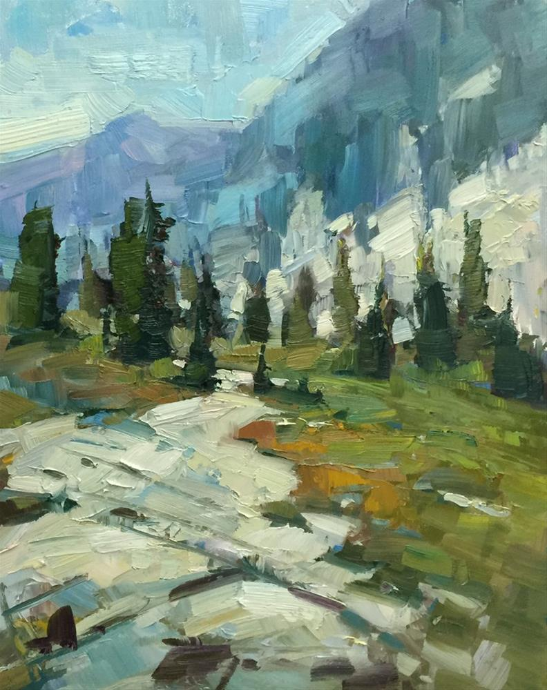 """Lostine Granite Trail"" original fine art by Patti McNutt"