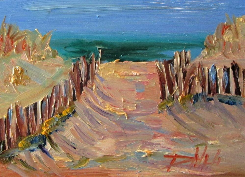 """Beach Fence"" original fine art by Delilah Smith"
