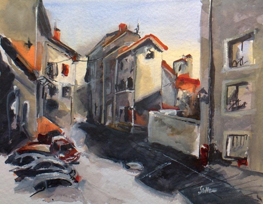 """""""1599 Village Street"""" original fine art by Dietmar Stiller"""