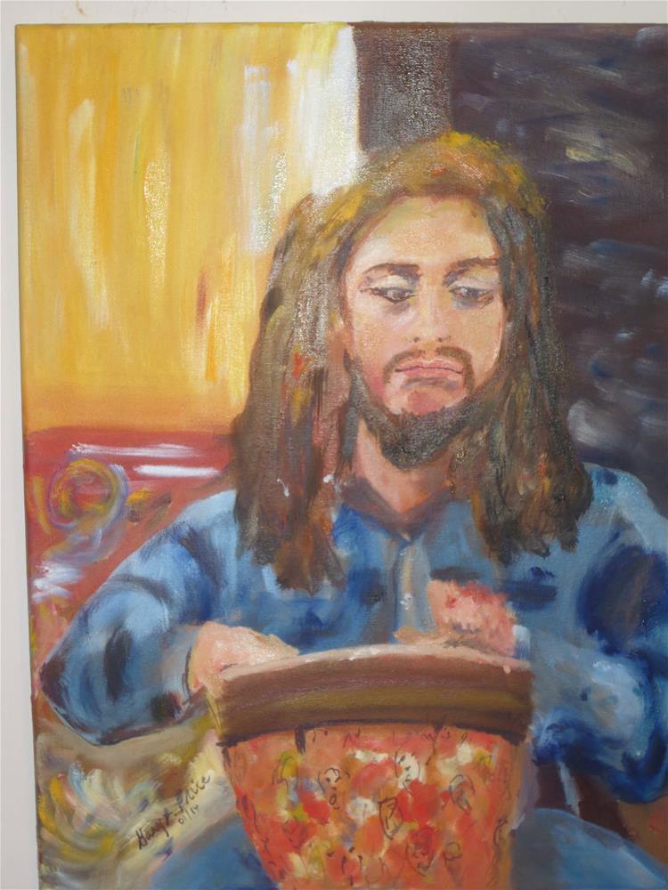 """Greg at Paul Henry's Art Gallery Open Mic"" original fine art by Gary Price"