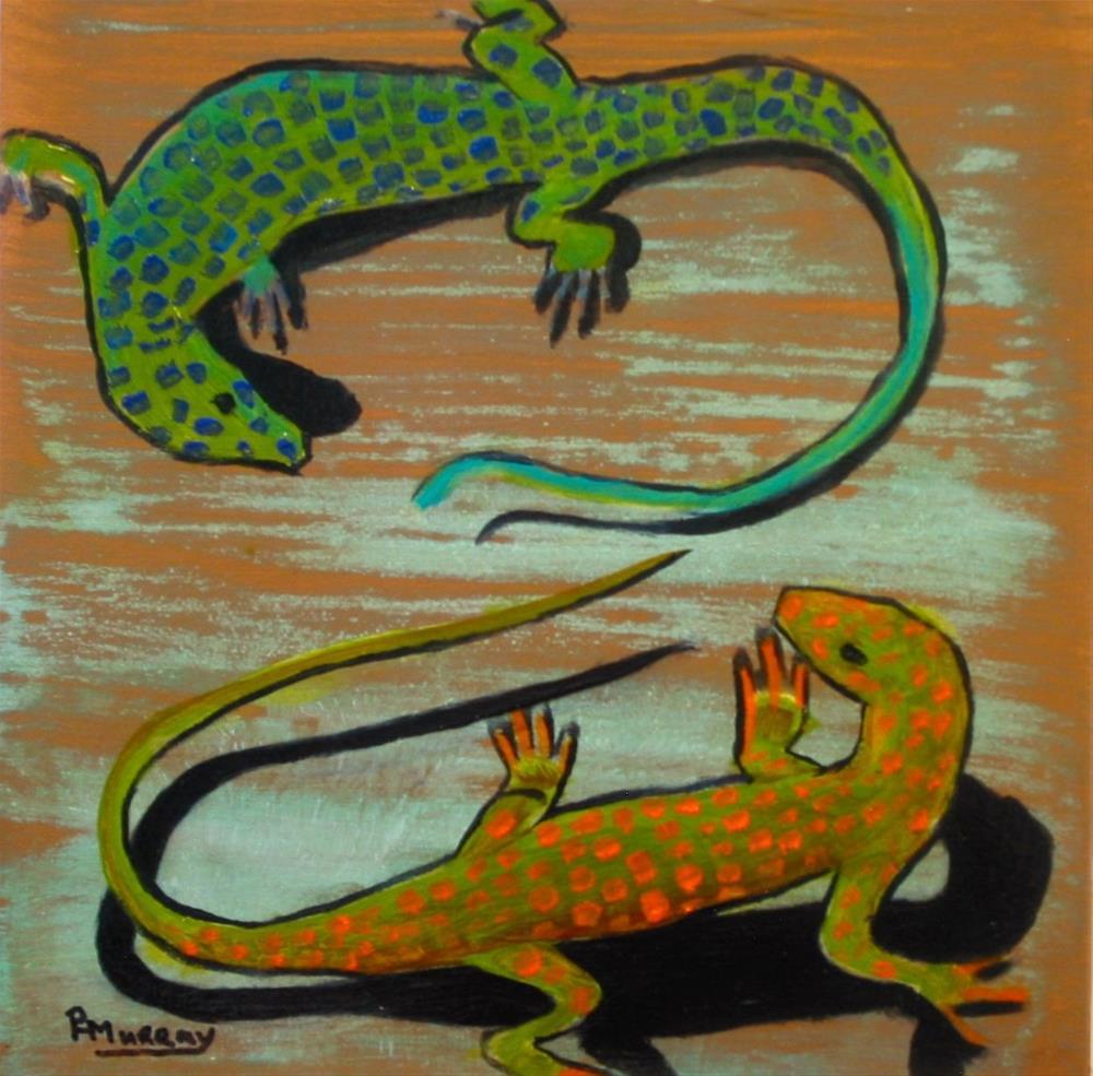 """Stand Off"" original fine art by Patricia Murray"