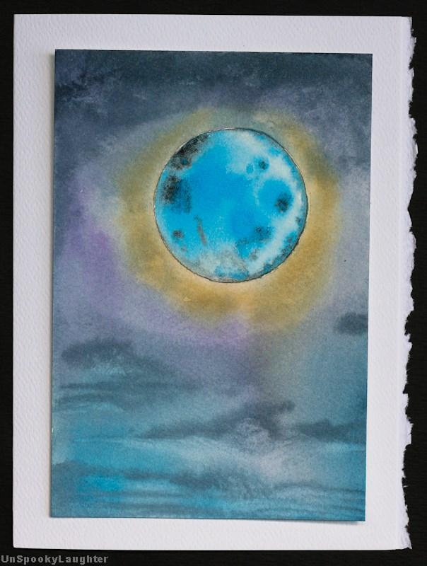 """""""Daily Card #91"""" original fine art by A.E.E. Miller"""