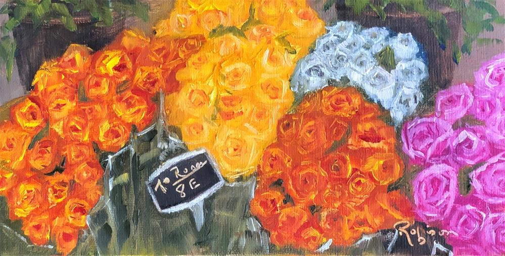 """""""French Market Roses"""" original fine art by Renee Robison"""