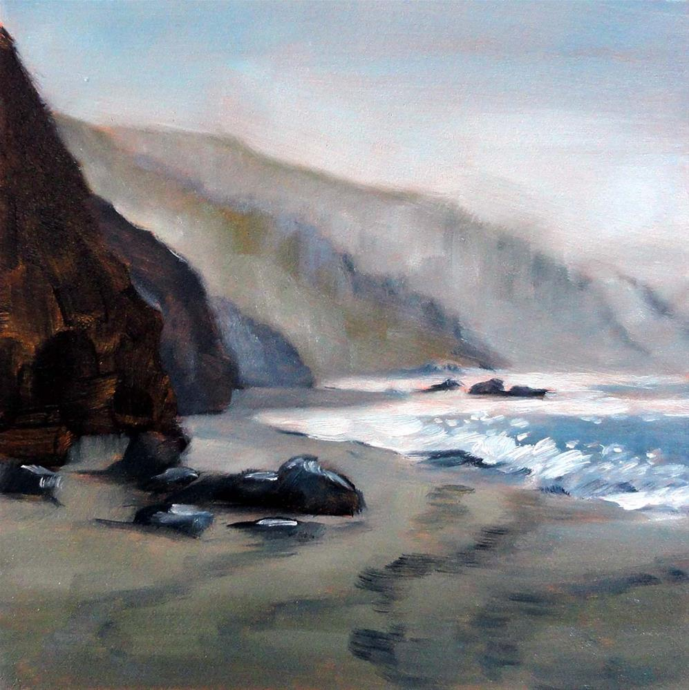 """Shoreline Shades of Gray"" original fine art by Cietha Wilson"