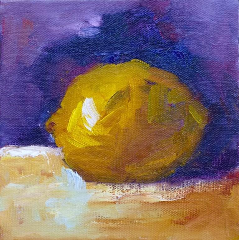 """Lemon #2, 14038"" original fine art by Nancy Standlee"