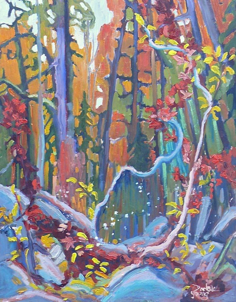 """547 Goldstream Park, Forest Scene"" original fine art by Darlene Young"