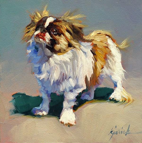 """Dog Show No. 7"" original fine art by Karin Jurick"