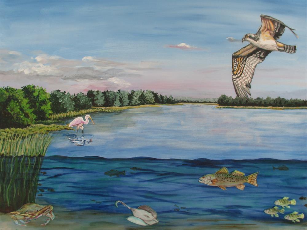 """The Living River"" original fine art by Lisa Wiertel"