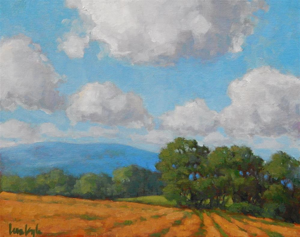 """Dancing Clouds"" original fine art by Lisa Kyle"