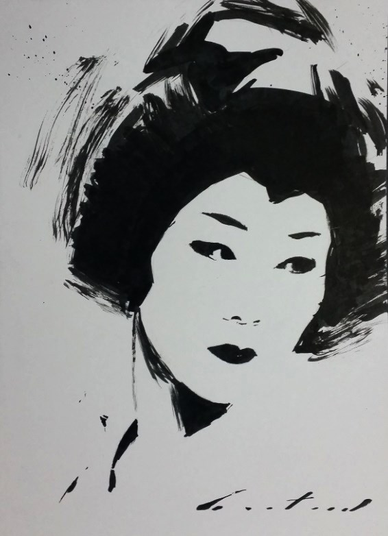 """""""Ayano"""" original fine art by Phil Couture"""