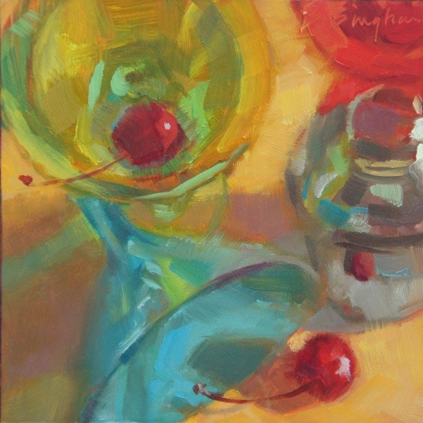 """Cherry Triple"" original fine art by Bruce Bingham"