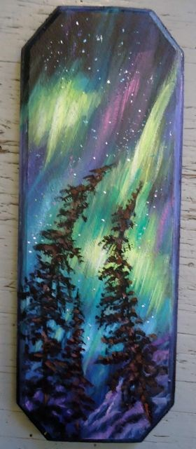 """Northern Lights, Yukon"" original fine art by Jackie Irvine"