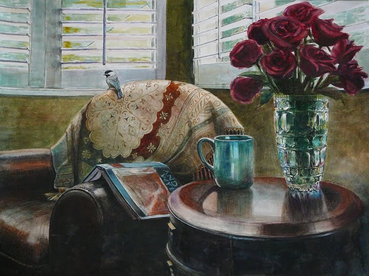 """Watercolor: Afternoon with Wyeth (& the Pros and Cons of Artistic Exposure)"" original fine art by Belinda Del Pesco"