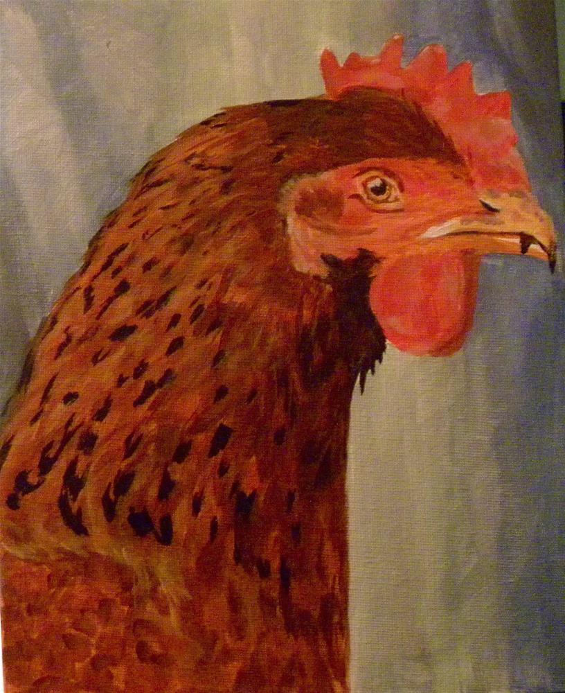 """Rooster Cockburn"" original fine art by cheryl buhrman"