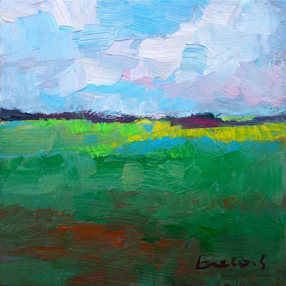 """""""The green field"""" original fine art by salvatore greco"""
