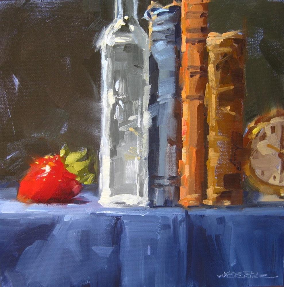 """""""Strawberry & Old Stuff"""" original fine art by Karen Werner"""