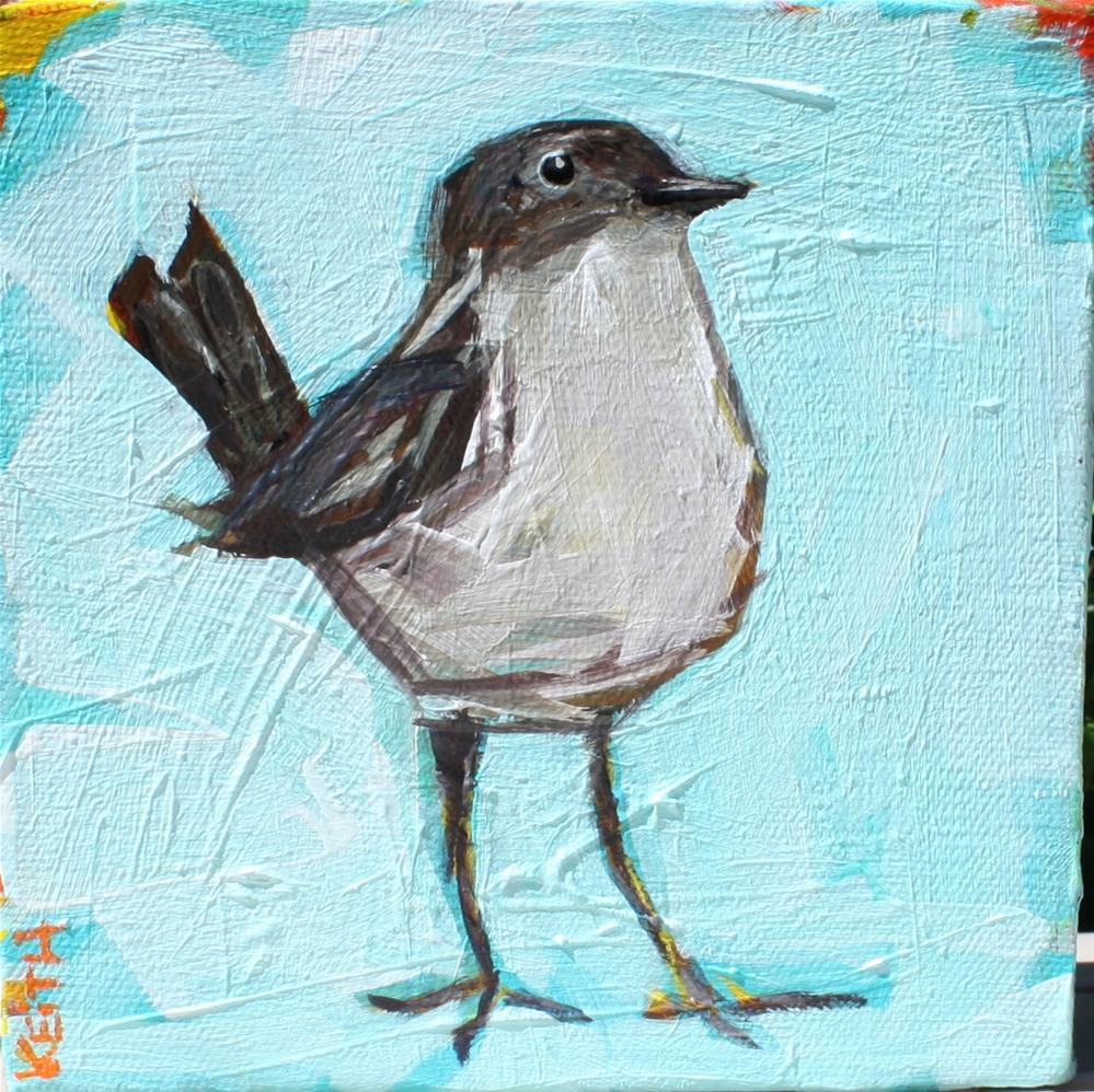 """""""Bright Little Wren"""" original fine art by Kandice Keith"""