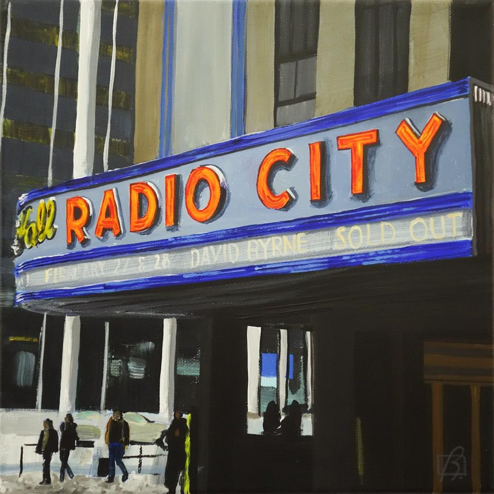 """Radio City"" original fine art by Andre Beaulieu"