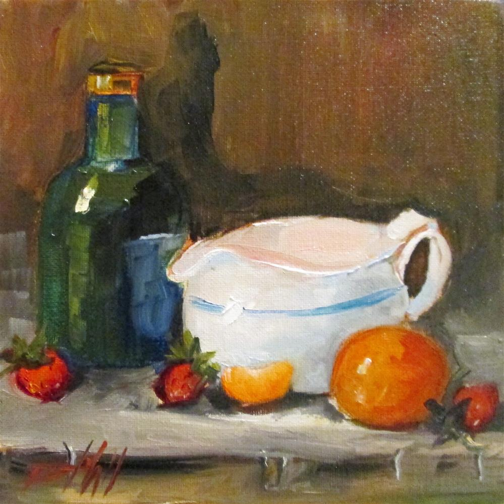 """Still Life with Orange"" original fine art by Delilah Smith"