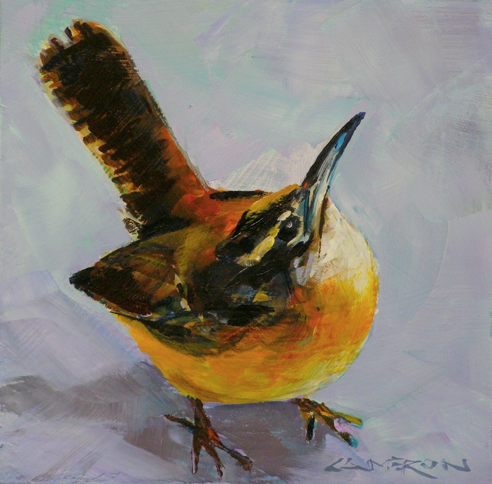 """WREN"" original fine art by Brian Cameron"