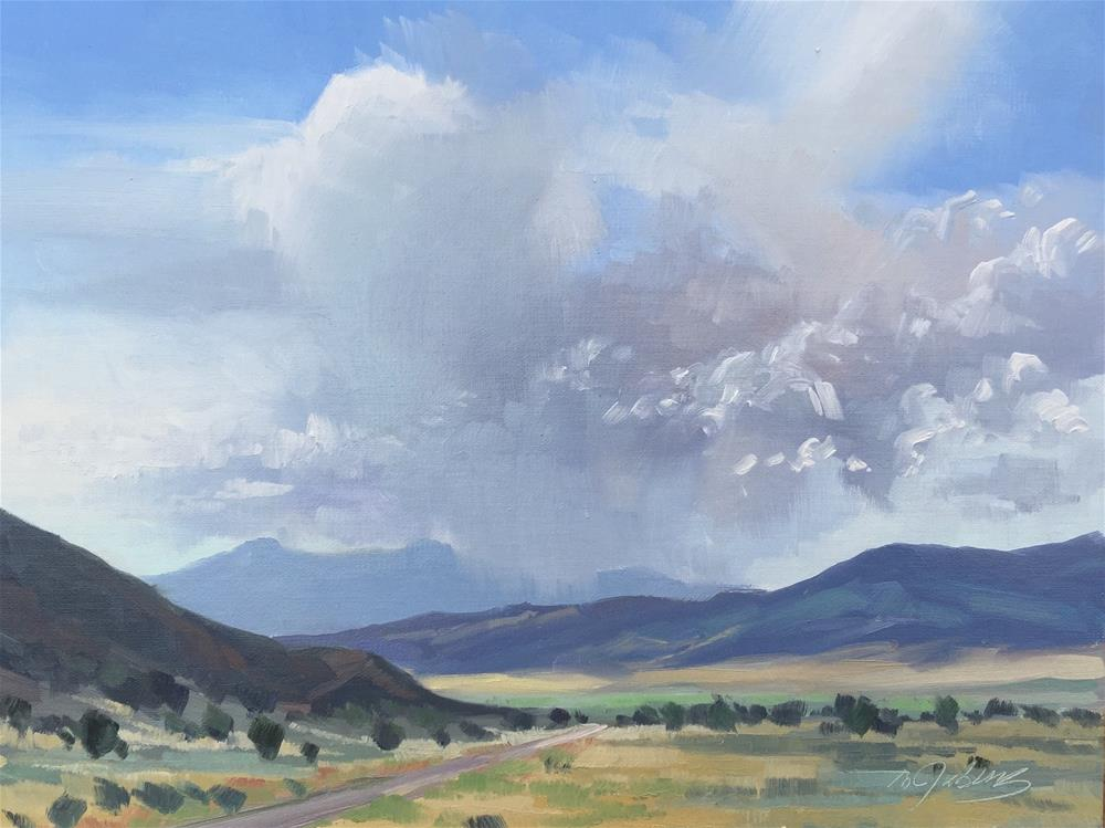 """""""Storms Over Pine Valley Mtns"""" original fine art by Mary Jabens"""