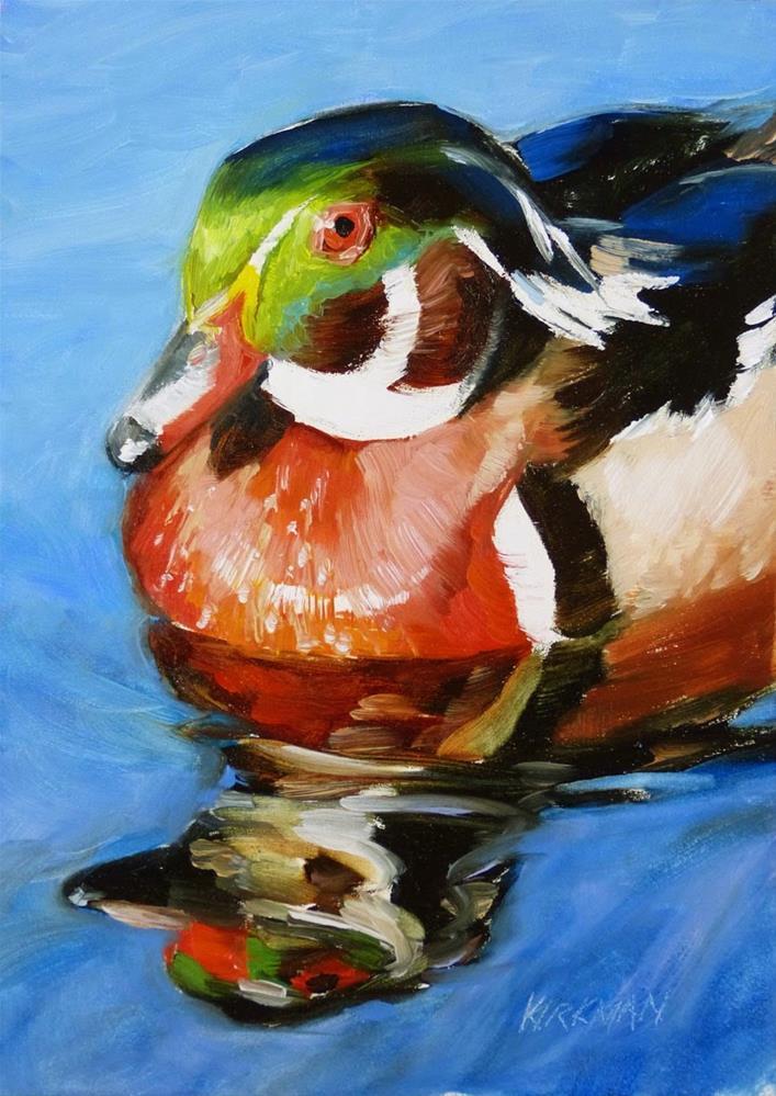 """Wood Duck"" original fine art by Rita Kirkman"