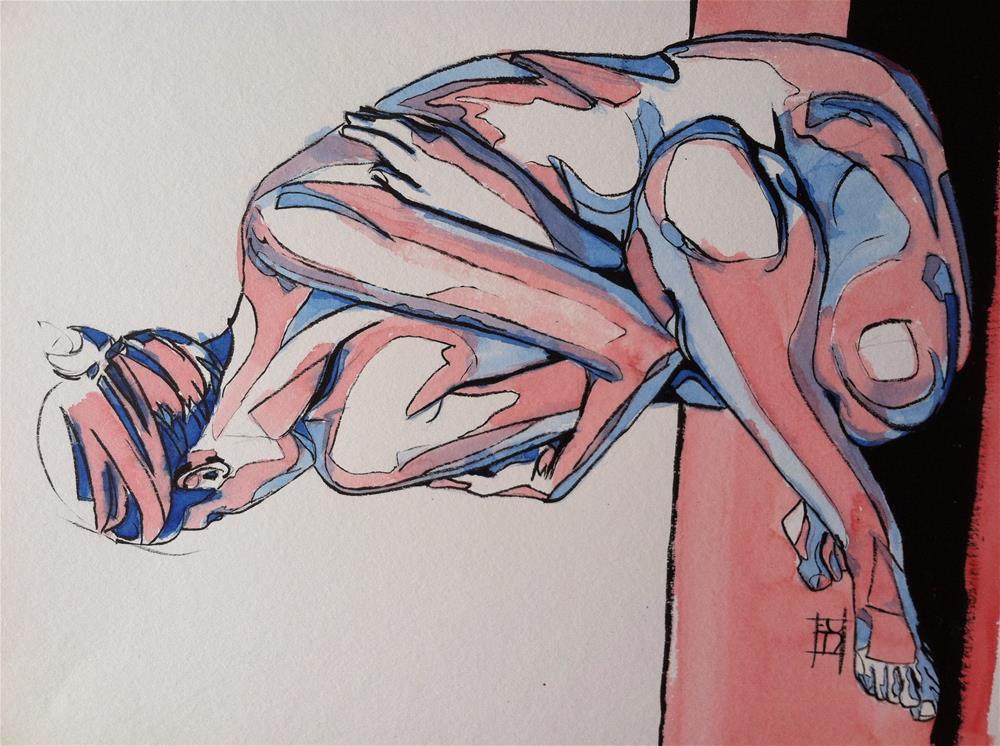 """Patriotic nude"" original fine art by Arron McGuire"