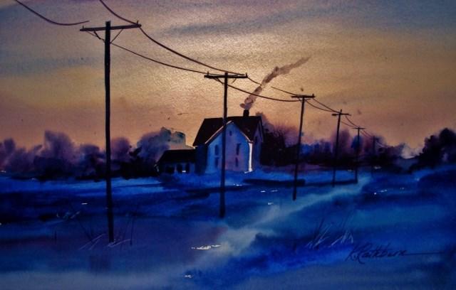"""The Snow Isn't Always White"" original fine art by Kathy Los-Rathburn"