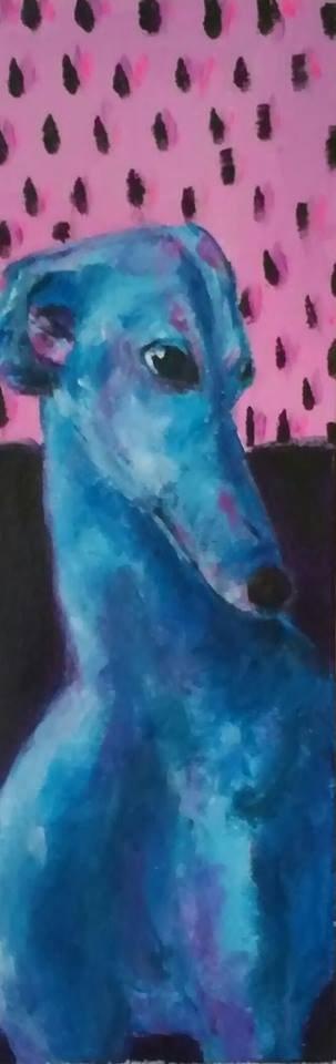 """""""Gianni"""" original fine art by Hallie Dozier"""