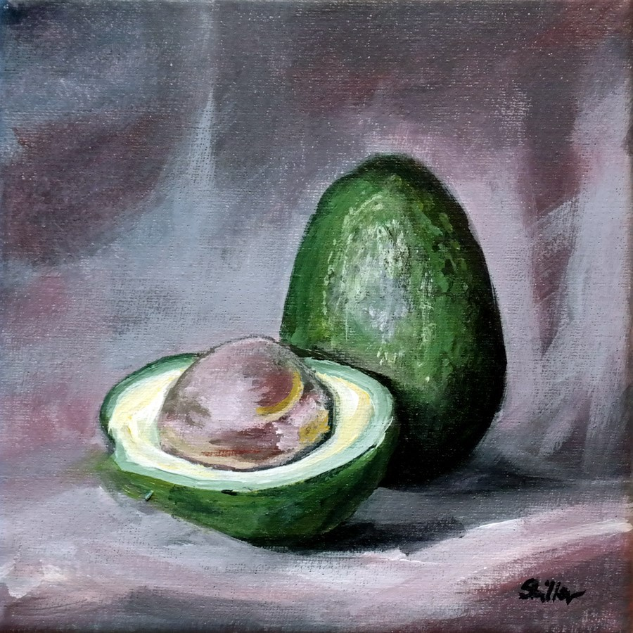 """1592 Avocado Rings"" original fine art by Dietmar Stiller"