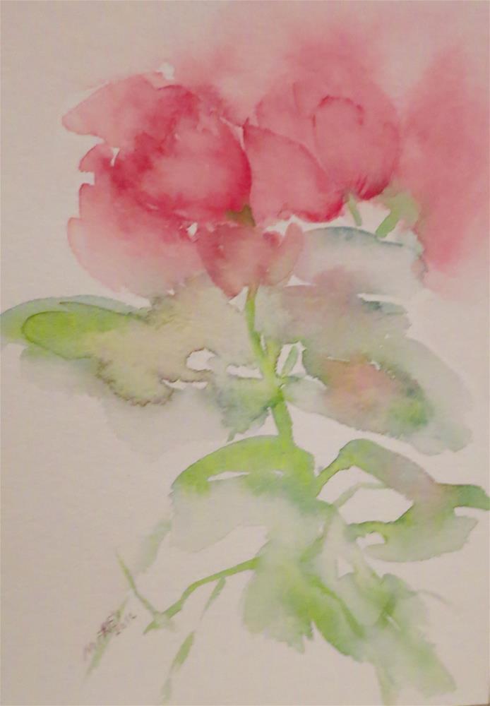 """Floral 0126"" original fine art by Michelina Frey"