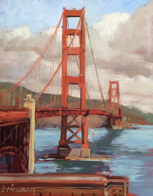 """Another Bridge View"" original fine art by Deborah Newman"