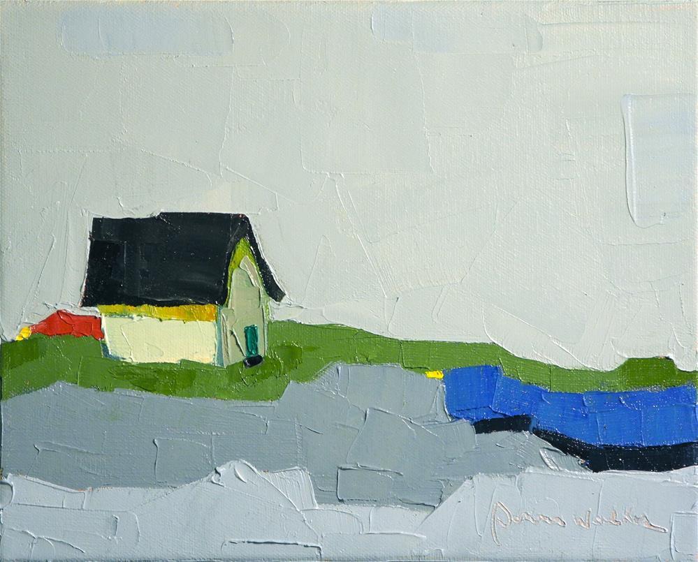 """Blue Pond II"" original fine art by Donna Walker"