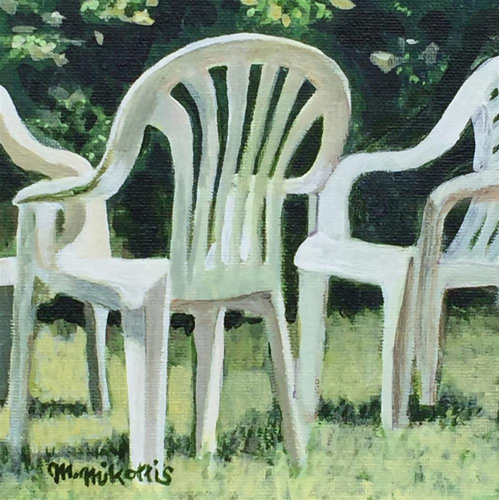 """Lawn Conference"" original fine art by Michael Mikottis"