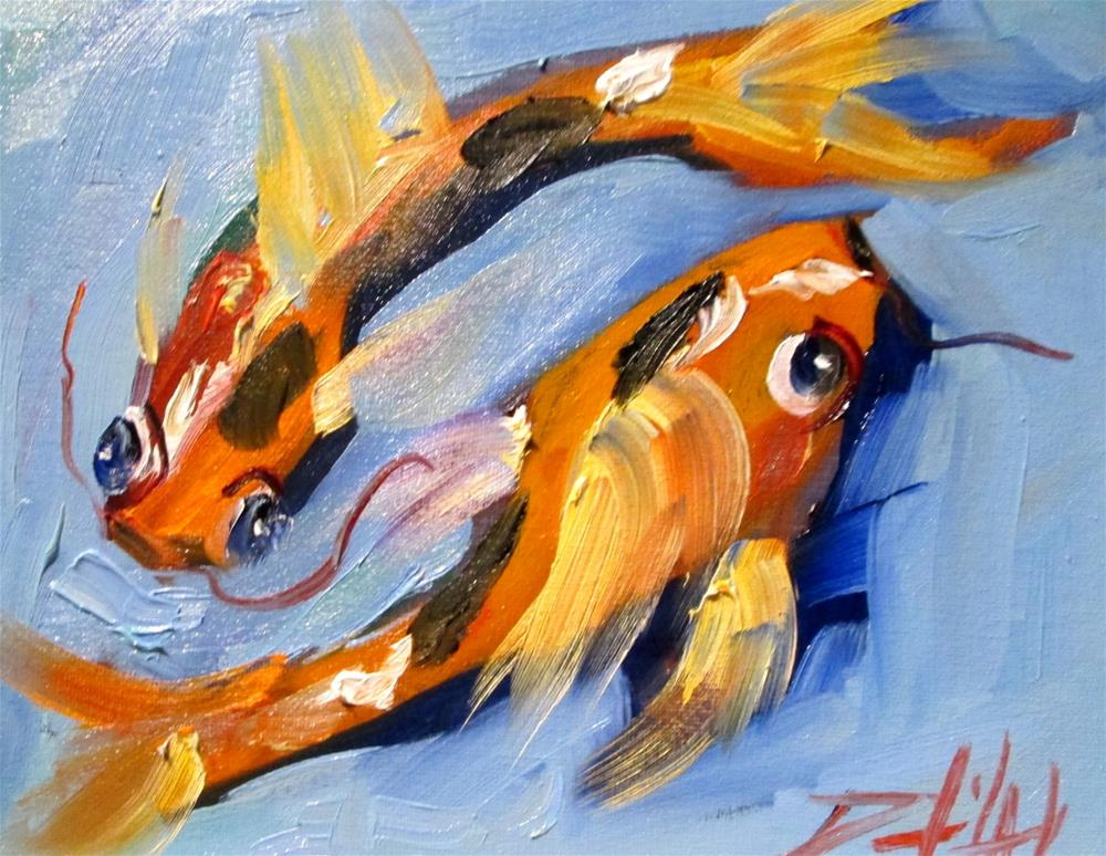 """Koi No 21"" original fine art by Delilah Smith"