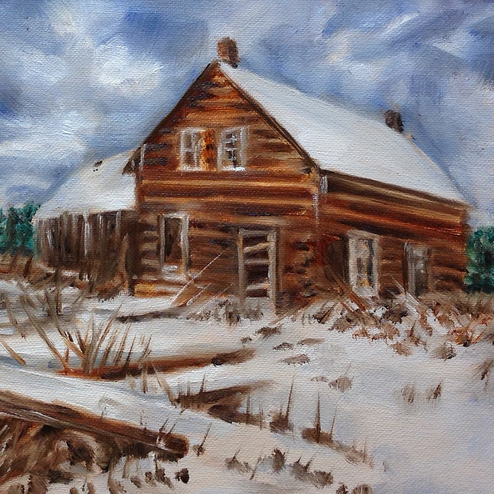 """""""Out in the Snow"""" original fine art by Linda Lowery"""
