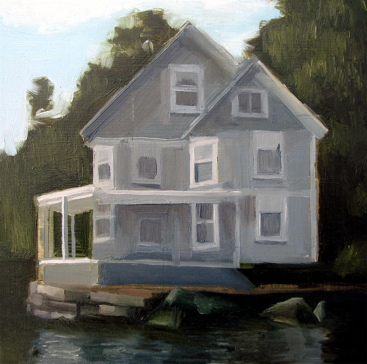 """House On The Edge Of The Cove (no.38)"" original fine art by Michael William"