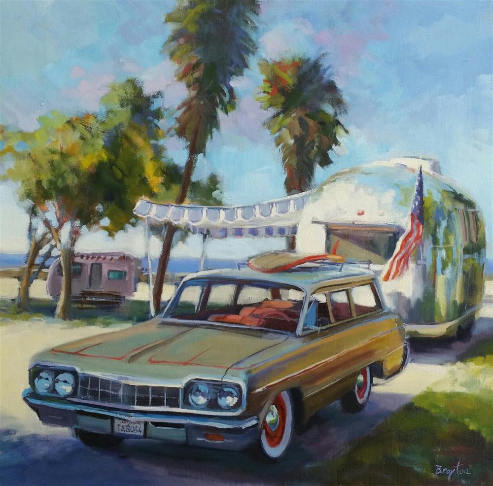 """California Srteamin"" original fine art by Wendy Brayton"