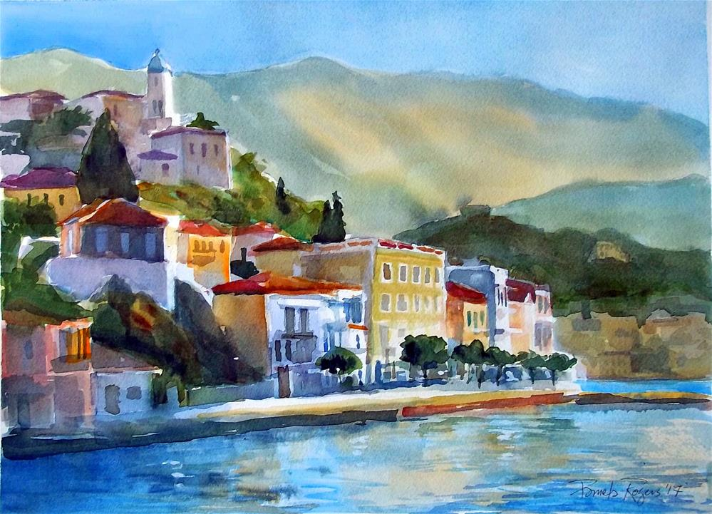 """Poros Island 2017"" original fine art by Pamela Jane Rogers"