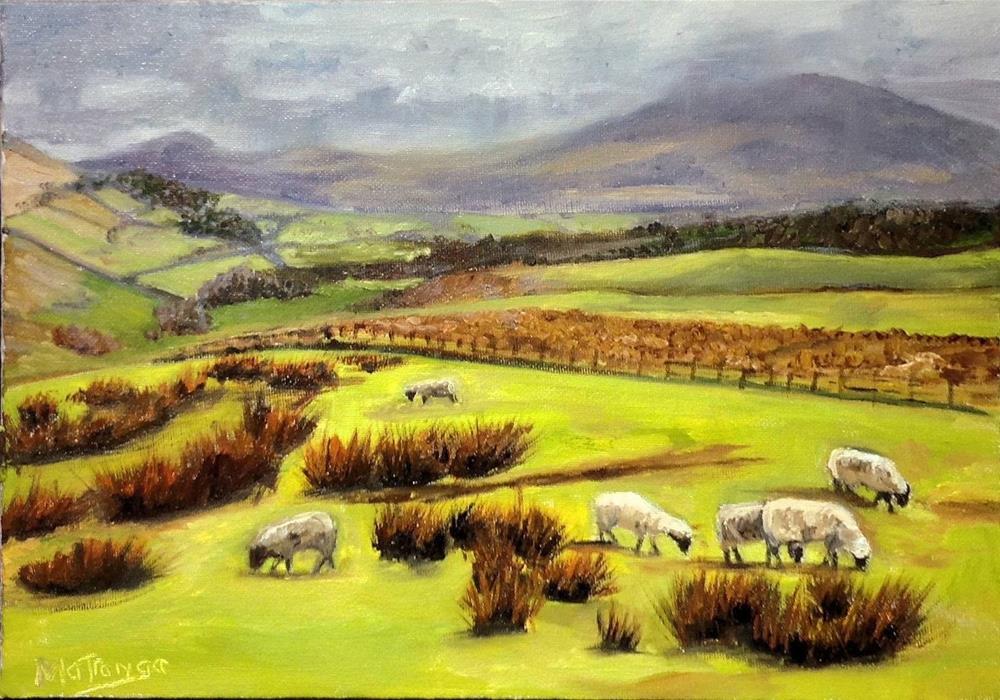 """Gathering wool"" original fine art by Patricia Matranga"