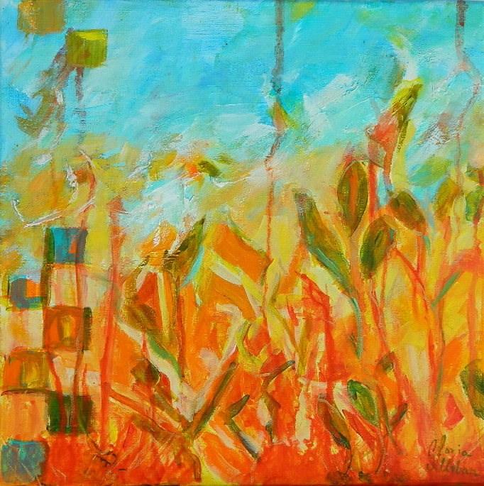 """Flowers Abstract #1"" original fine art by Gloria Urban"