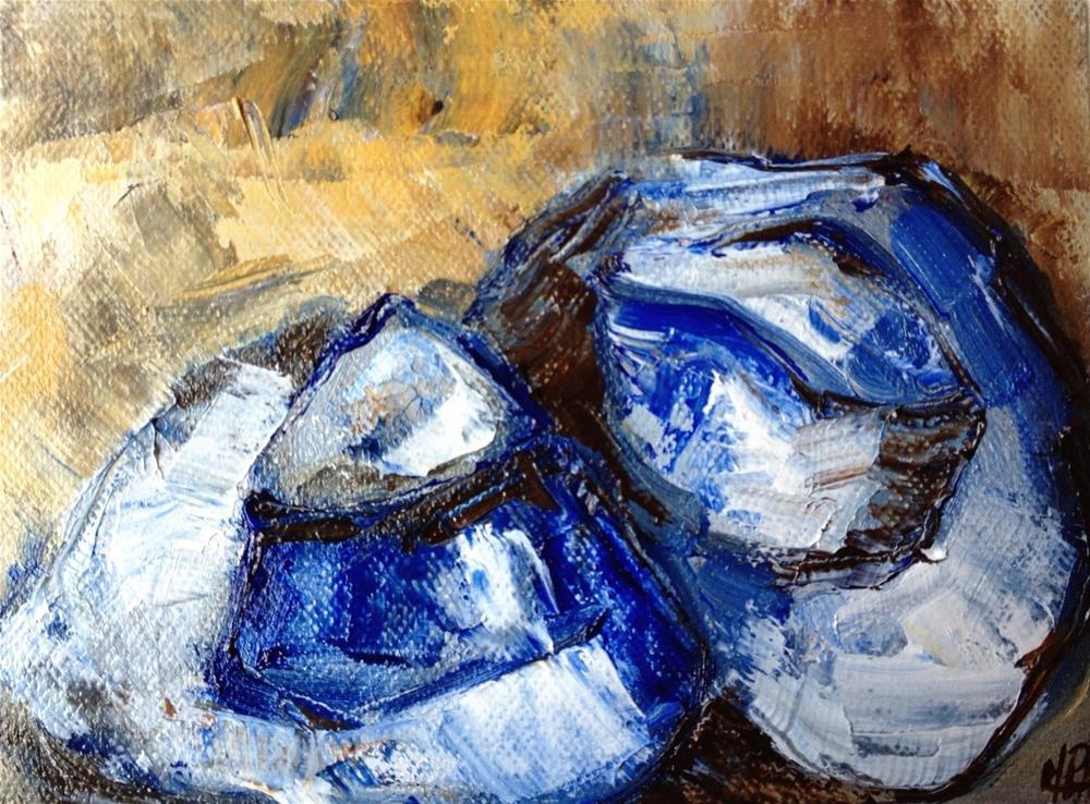 """""""Blue hats"""" original fine art by Monica Pinotti"""